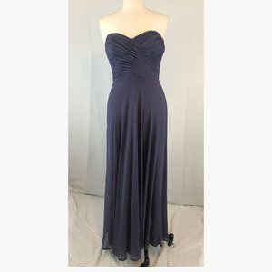 After Six Amethyst Strapless Ruched Formal Dress 8